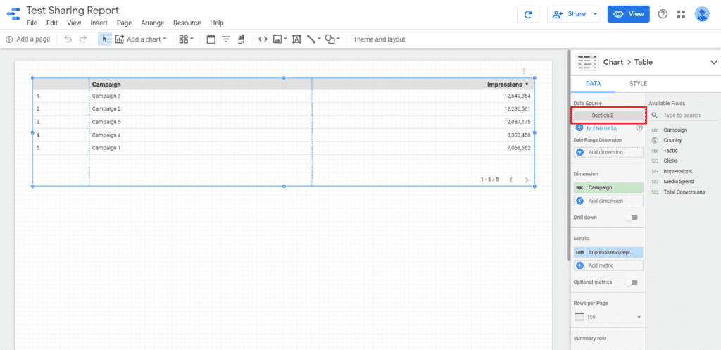 data studio report edit access