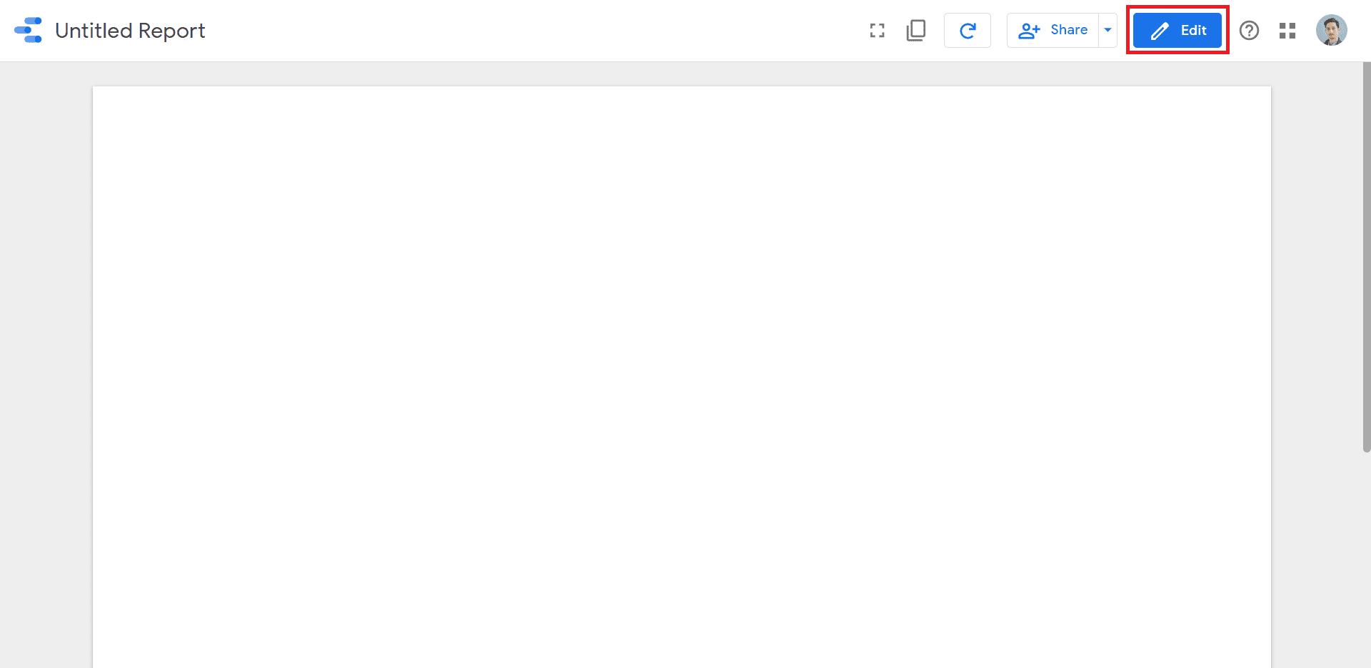 edit a data studio report