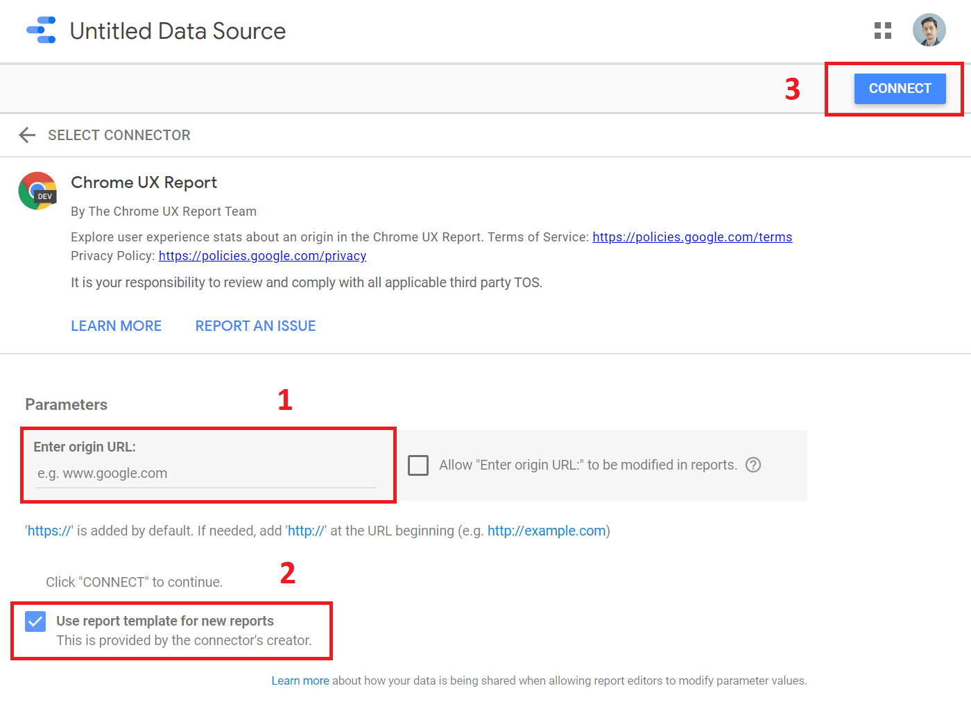 chrome ux report connector