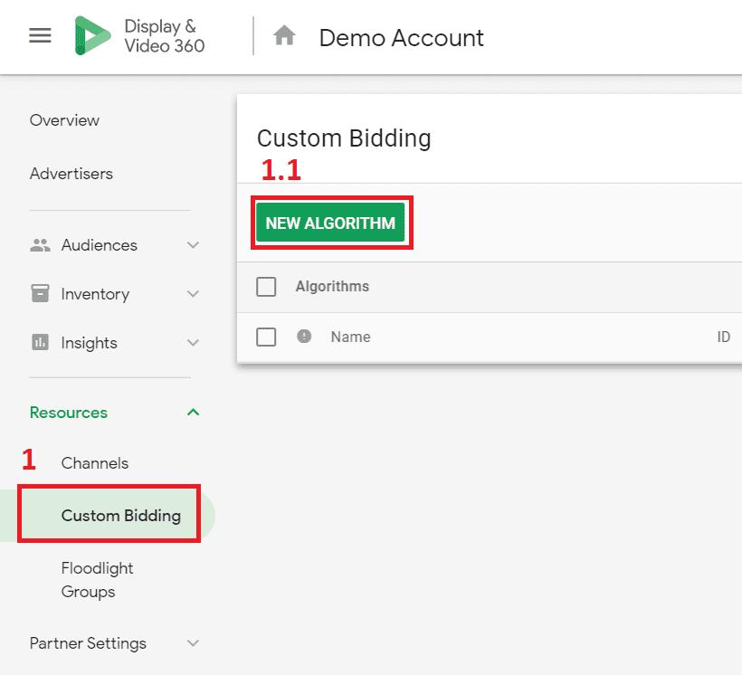 dv360 custom bidding new algorithm