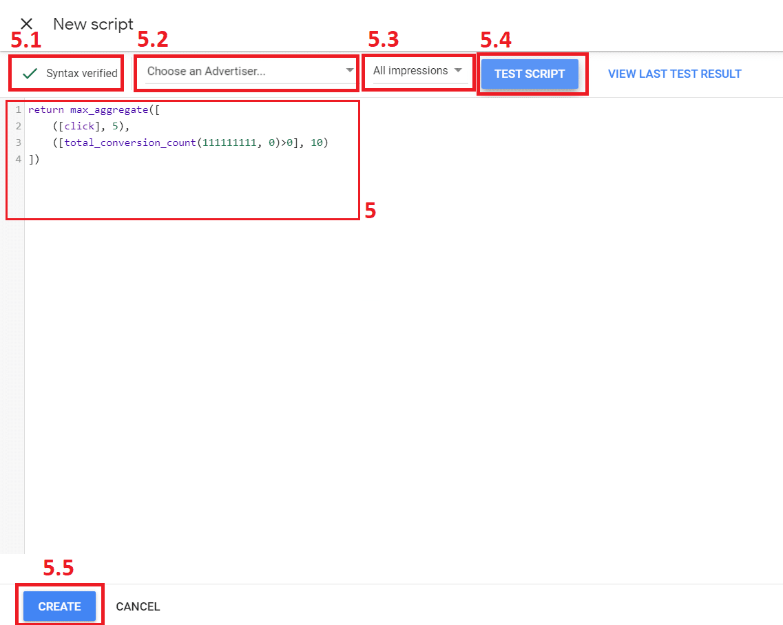 writing the custom bidding script in the validator with notations