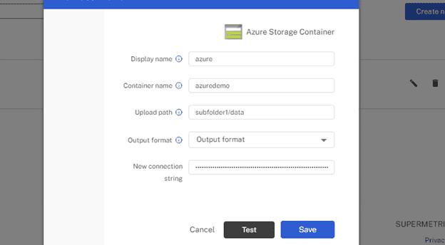 setup configuration azure container